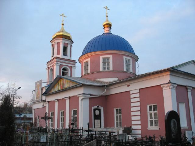 Свято-Троицкий храм города Орла, утро