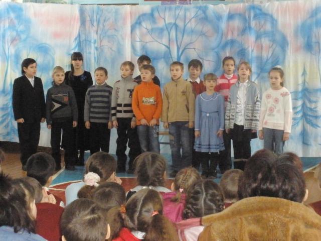 Выступление учеников в некрасовской школе-интернате